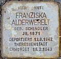 Stolpersteine Salzburg Franziska Alderwerelt.jpg