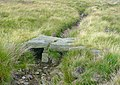 Stone slab bridge, Higher House Moor, Mytholmroyd - geograph.org.uk - 1444178.jpg