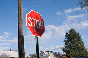 Graffiti in the United States - Gang symbols in Spokane, Washington.