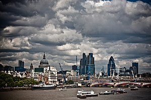 United Kingdom insolvency law - Image: Storm Clouds over London