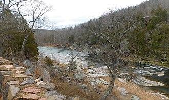 Stouts Creek - Stouts Creek east of Arcadia, Missouri