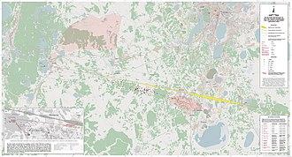 Chelyabinsk meteorite - Image: Strewnfield map of Chelyabinsk meteorites