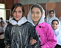 Students pose for a photo at the Bibi Mahro school in Kabul, Afghanistan, Oct. 12, 2011, when volunteers from U.S. Forces-Afghanistan and the medical embedded training team at the New Kabul Compound visited to 111012-A-JR210-218.jpg