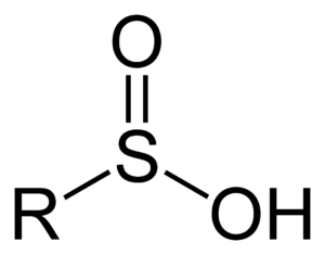 Sulfinic acid - The general structure of a sulfinic acid