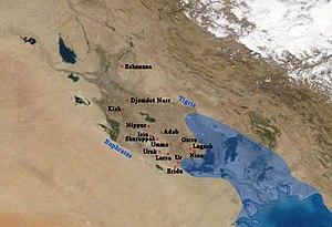 Спутниковая карта Шумера. Jpg