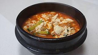 Sundubu-jjigae Korean traditional soft tofu stew