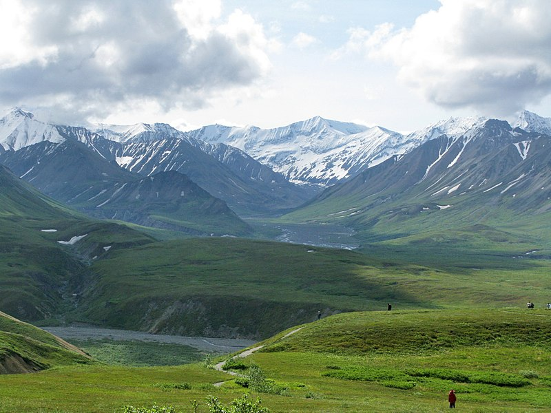 Súbor:Sunset Glacier Valley at Eielson.jpg