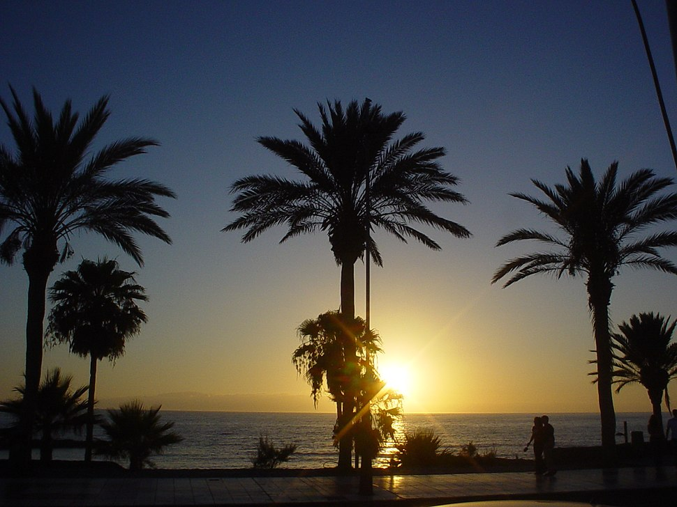 Sunset las americas tenerife
