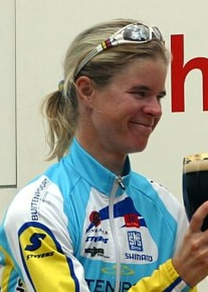 Susanne Ljungskog - Ljungskog on the podium at the 2005 Thüringen Rundfahrt der Frauen