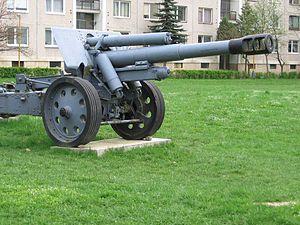 15 cm sFH 18 - 152 mm houfnice vz.18/47 in Svidnik museum