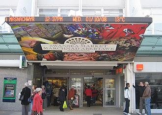 Swansea Market - Market entrance on Oxford Street