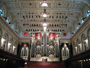 Sydney Town Hall Grand Organ - Image: Sydney Town Hall interior