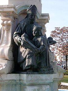 A székesfehérvári Püspökkút Szent Gellért püspökkel és Szent Imre herceggel