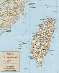 台灣島地圖