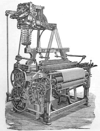 Dobby loom - A loom from the 1890s with a dobby head.