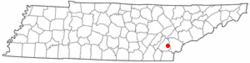 Location of Englewood, Tennessee