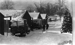 Telecommunications Research Establishment - TRE Malvern huts in winter 1942-3