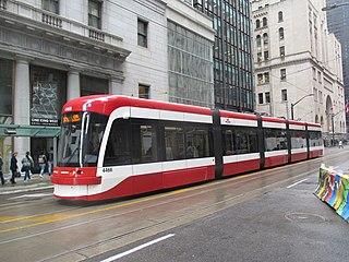streetcar line in Toronto, Canada