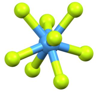 Square antiprismatic molecular geometry - Image: Ta F83 Core