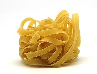 Tagliatelle - The distinctive shape of tagliatelle pasta