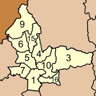 Chawang District - Map of Tambon