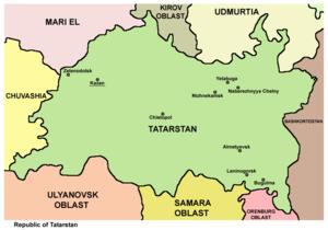 History of Tatarstan - Tatarstan map