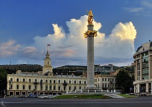 Freedom Square, Tbilisi - Image: Tavisupleba square. Monument of St. George