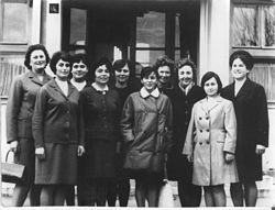 Teachers in Simleu Silvaniei, November 1969.jpg