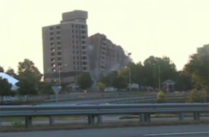 Building implosion - Image: Tencza demolition