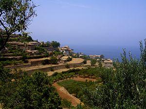 Agriculture in Spain - Agricultural terraces in Banyalbufar.
