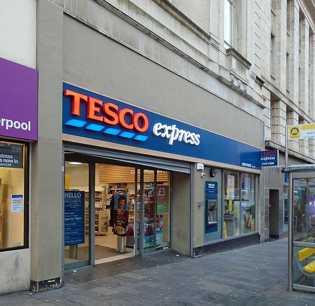 Tesco Express Store Finder: File:Tesco Express, Lord Street, Liverpool.jpg