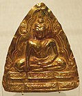 Thailand, Ayutthaya style, 15th-16th century, Hammered gold Plaque with Buddha.jpg