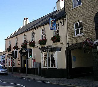 A1 road (Great Britain) - The Angel Inn at Wetherby is a coaching inn on the former A1, bypassed since the 1950s.