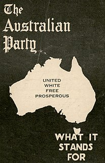 Australian Party Defunct political party in Australia