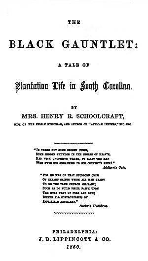 The Black Gauntlet: A Tale of Plantation Life in South Carolina - First edition title page