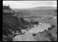 The Bluff above a river winding through a valley on the Mendip Hills property, Hurunui District. ATLIB 241036.png