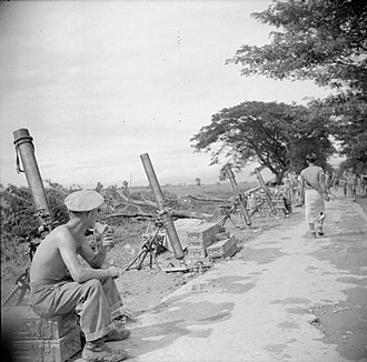 ML 4.2-inch mortar - Image: The British Army in Burma 1945 SE4463
