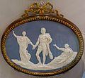 The Judgement of Hercules, 1773, solid gray-blue jasper with darker dip, white reliefs, ormolu frame by Matthew Boulton - Wedgwood Museum - Barlaston, Stoke-on-Trent, England - DSC09690.jpg