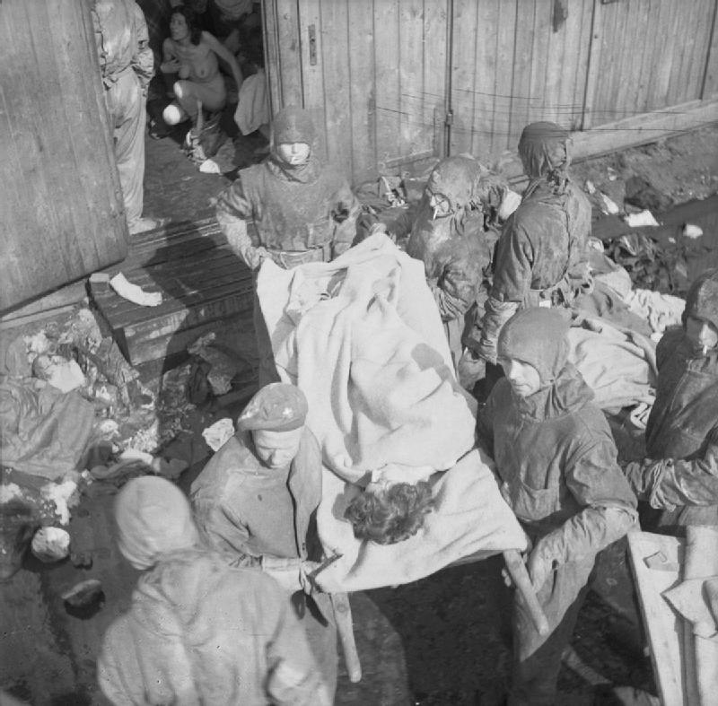 The Liberation of Bergen-belsen Concentration Camp, April 1945 BU4195