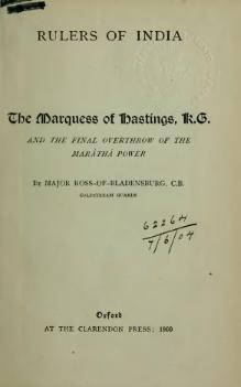 The Marquess of Hastings, K.G..djvu