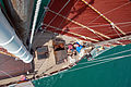 The Naga Pelangi - view from the Mast down to the foredeck.jpg