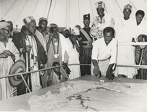 Dagomba people - Northern territories chiefs and elders at the Volta River project travelling exhibition(1950)