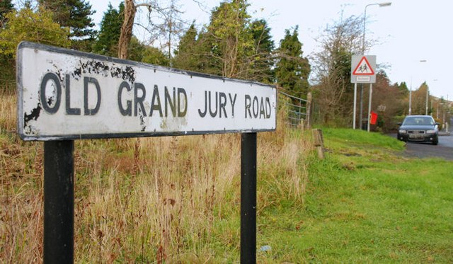 From commons.wikimedia.org: The Old Grand Jury Road, Saintfield {MID-148997}