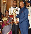 The President, Shri Ram Nath Kovind presenting the Padma Shri Award to Smt. Sitavva Dundappa Jodatti, at the Civil Investiture Ceremony-II, at Rashtrapati Bhavan, in New Delhi on April 02, 2018.jpg