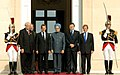 The Prime Minister, Dr. Manmohan Singh and the French and EU President, Mr. Nicolas Sarkozy with other dignitaries at the 9th Indo-EU Summit, in Marseille, France on September 29, 2008 (1).jpg