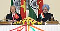 The Prime Minister, Dr. Manmohan Singh and the General Secretary of the Communist Party of the Socialist Republic of Vietnam, Mr. Nguyen Phu Trong, at the Joint Press Statements, in New Delhi on November 20, 2013.jpg