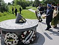 The Prime Minister, Dr Manmohan Singh laying wreath at Air India Memorial, at Toronto, in Canada on June 28, 2010.jpg