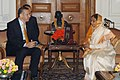 The Prime Minister of the Republic of Turkey, Mr. Recep Tayyip Erdogan with the President, Smt. Pratibha Devisingh Patil, in New Delhi on November 21, 2008.jpg