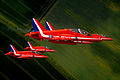 The Red Arrows roll upside down in tight formation during display training MOD 45147905.jpg