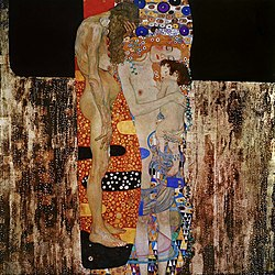 Klimnt mother child painting